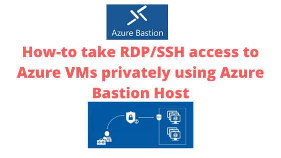 How-to take RDP/SSH access to Azure VMs privately using Azure Bastion Host