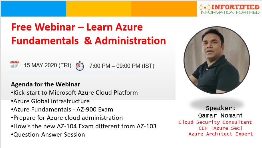 Free Webinar – Learn Azure Fundamentals and Administration